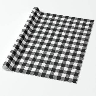 Choose Your Own Background Colour Buffalo Plaid Wrapping Paper