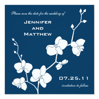 Choose Your Own Color! Orchids Save the Date Card