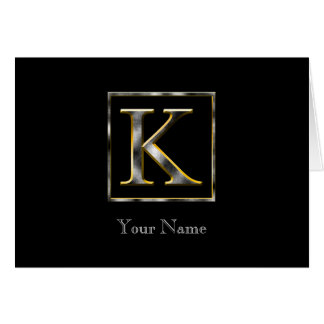 Choose Your Own Diamond Cut Metal Initial Card