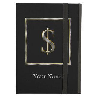 Choose Your Own Diamond Cut Metal Initial iPad Cas Cover For iPad Air