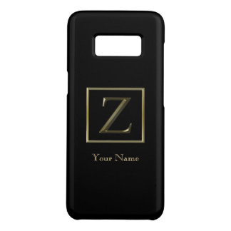 Choose Your Own Shiny Gold Monogram Galaxy 8 Case