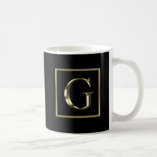 Choose Your Own Shiny Gold Monogram Mug