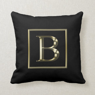 Choose Your Own Shiny Gold Monogram Pillow