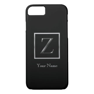 Choose Your Own Shiny Silver Monogram iPhone 7 Bar iPhone 8/7 Case