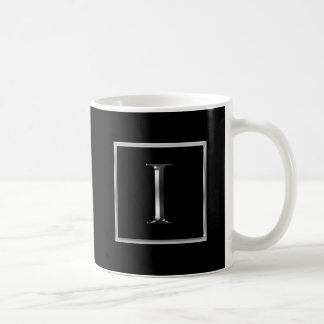 Choose Your Own Shiny Silver Monogram Mug