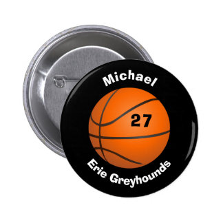 Choose your Team Color Personalized Basketball II 6 Cm Round Badge