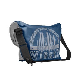 Choose Your Weapon custom messenger bag