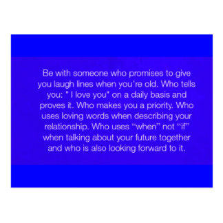CHOOSING WHO TO LOVE QUOTES HAPPY RELATIONSHIPS FO POSTCARD