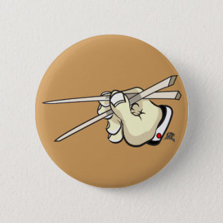 Chop Sticks Asian Design 6 Cm Round Badge