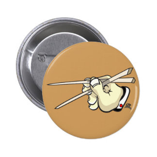 Chop Sticks Asian Design 6 Cm Round Badge