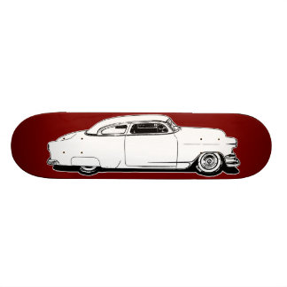Chop Top Chevy Black, White, Red Graphic Deck Skateboard Decks