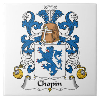 Chopin Family Crest Ceramic Tile