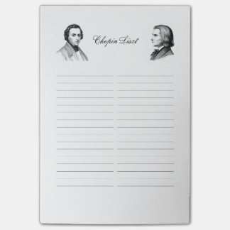 Chopin Liszt shopping list Post-it Notes