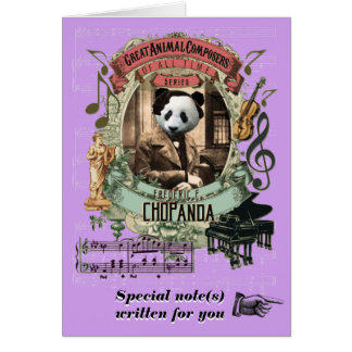 Chopin Parody Chopanda Funny Animal Composer Panda Card