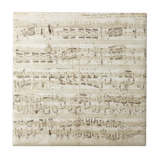 Chopin Sheet Music Ceramic Tile