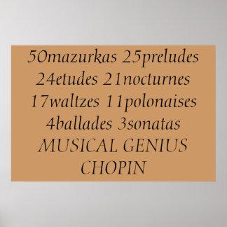 Chopin's accomplishments poster