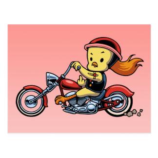 Chopper Chick -notx Postcard