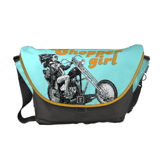 Chopper girl messenger bags