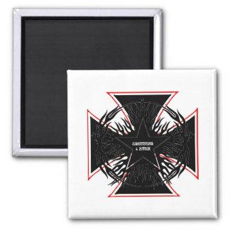 chopper maniac square magnet