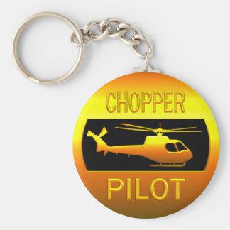 Chopper Pilot Key Ring