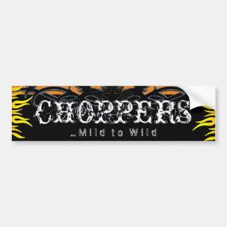 Choppers Mild to Wild Biker Bumper Sticker