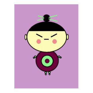 Chopsticks Doll Postcard