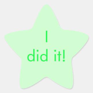 """Chore Chart Sticker """"I did it!"""""""