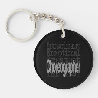Choreographer Extraordinaire Double-Sided Round Acrylic Key Ring