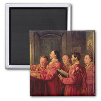 Choristers in the Church, 1870 Square Magnet