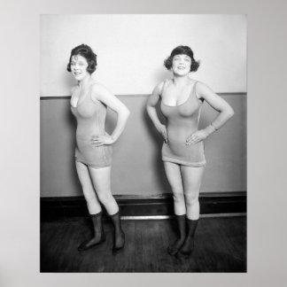Chorus Girls, 1920. Vintage Photo Poster