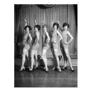 Chorus Girls, 1927 Post Card
