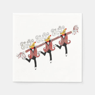 Chorus Line of Dancing Reindeer Disposable Serviette