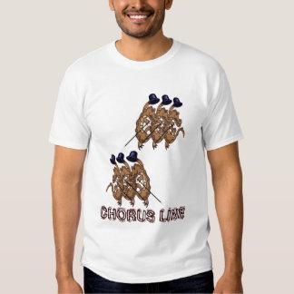 Chorus line tshirts