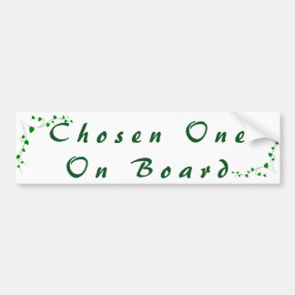 Chosen One On Board Oakpodcast Bumper Sticker