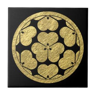 Chosokabe Mon Japanese samurai clan Ceramic Tile
