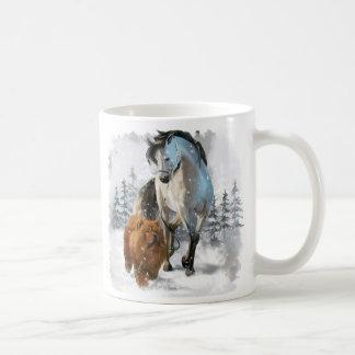 Chow Chow and horse Coffee Mug
