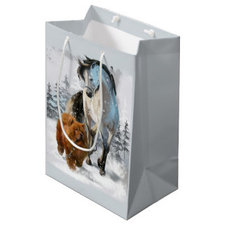 Chow Chow and horse Medium Gift Bag