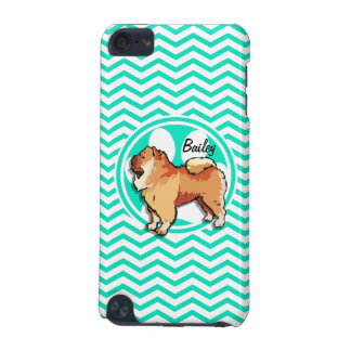 Chow Chow Aqua Green Chevron iPod Touch (5th Generation) Cover