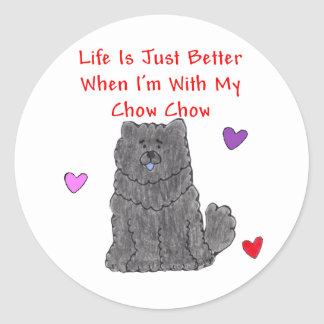 Chow Chow Black Life Is Just Better Sticker