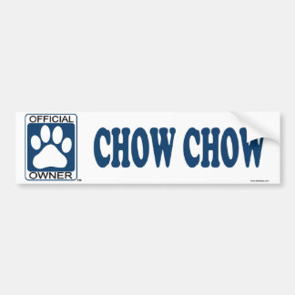 Chow Chow Blue Bumper Sticker