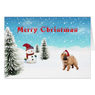 Chow chow Christmas Card