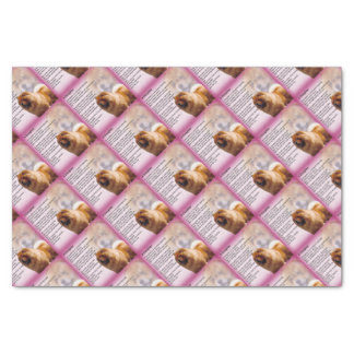 Chow Chow Dog Design - Daughter Poem Tissue Paper