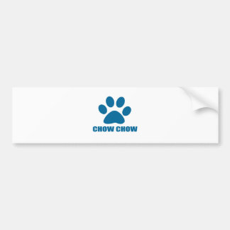 CHOW CHOW DOG DESIGNS BUMPER STICKER
