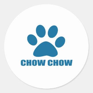 CHOW CHOW DOG DESIGNS CLASSIC ROUND STICKER