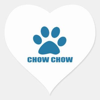 CHOW CHOW DOG DESIGNS HEART STICKER