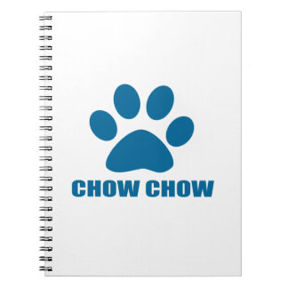 CHOW CHOW DOG DESIGNS NOTEBOOKS