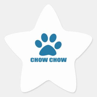 CHOW CHOW DOG DESIGNS STAR STICKER
