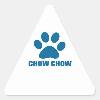 CHOW CHOW DOG DESIGNS TRIANGLE STICKER