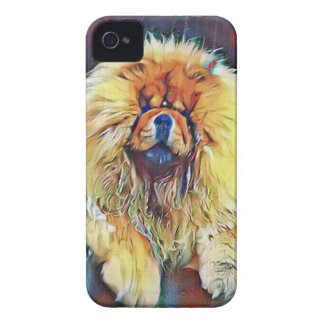Chow Chow Dog on Porch in the Rain iPhone 4 Cover