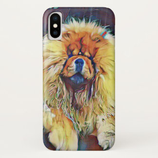 Chow Chow Dog on Porch in the Rain iPhone X Case